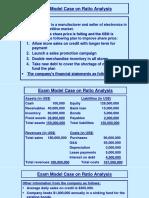Exam Model Case on Ratio Analysis