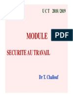 Cours Securite Au Travail 1. Opt2 Proth2. 2018