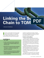 Linking the supply chain to TQM