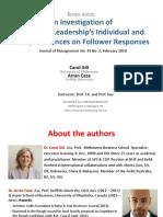 Authentic Leadership Individual 1
