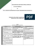 Matrix of Montessori, HighScope and Reggio Emilia Approach.docx