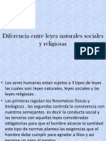 Etica Diferencia Entre Leyes Naturales Sosiales y Religiosas
