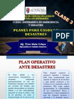 Clase 3 - PLANES PARA CASO DE DESASTRES.pptx