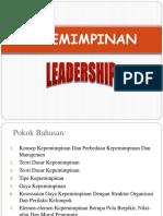 Pertemuan 1 Konsep Kepemimpinan Dan Perbedaan Kepemimpinan Dan Manajemen