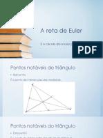 A reta de Euler apresentação