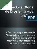 Buscando La Gloria de Dios