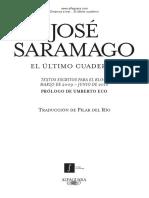 El Ultimo Cuaderno - Jose Saramago