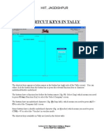 Tally Short Cut Key