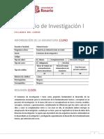 Syllabus Seminario de Investigacion i