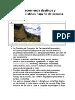 Prom Perú recomienda destinos y paquetes turísticos para fin de semana largo