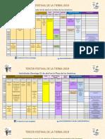 Programa Festival Tierra 2019