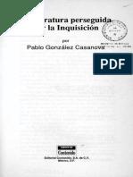 LITERATURA PERSEGUIDA POR LA INQUISICIÓN