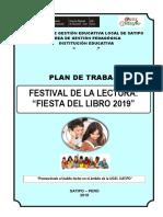 Plan de Trabajo Festival de La Lectura 2019