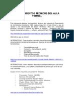 Requerimientos Técnicos del Aula Virtual