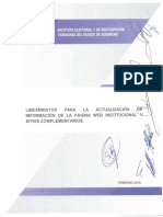 Lineamientos Para La Actualizacion de Informacion de La Pagina Web Institucional y Sitios Complementarios IEPC 2019 PDF