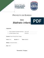"Proyecto ""Maltrato Infantil"""