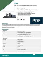 Moxa Uport 1000 Series Datasheet v1.0