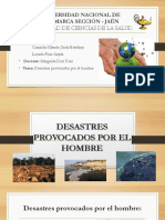 DESASTRES PROVOCADOS POR EL HOMBRE