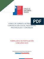Formulario de Postulación Concurso 2019.