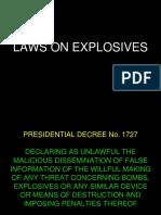 Laws on Explosives Ra No. 9516 and Presidential Decree No. 1727