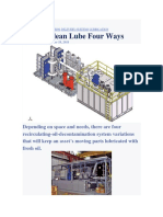 Deliver Clean Lube Four Ways