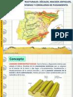 Relieves morfoestructurales de la Península Ibérica