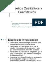 Diseño cuantitativo y cualitativo