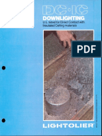 Lightolier DC-IC Downlighting Brochure 1981