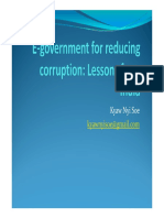 E Goverment for Reducing Corruption Lessons From India Myanmar ING 2nd Kyaw Nyi Soe