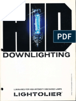 Lightolier Calculite HID Downlighting Catalog 1981