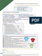 Possessive Adjectives and Possessive Pronouns Elementary.pdf