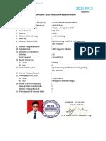 Format Biodata Raport