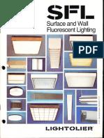 Lightolier SFL Surface & Wall Fluorescent Lighting Catalog 1979