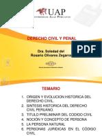 CLASE 1 Origen y Evolución Del Derecho Penal y Civil