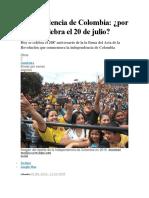 Colombia y Su Independencia