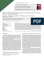 Eficiencia de Hidrólisis y Adsorción de Enzimas en El Abeto Pretratado Con Vapor de Agua en Presencia de Poli (Etilenglicol)