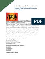 Ejercicios de Comprensión de Lectura para Bachillerato para Imprimir.docx