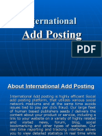 International Add Posting