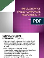 Implications of Failed CSR 2