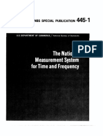 The National Measurement System of Time and Frequency