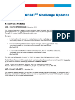 Into Orbit Challenge Updates