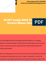 20_20® Insight GOLD Technology Decision Makers Email List in usa