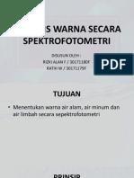 analisis warna spektrofotometer