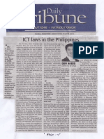 Daily Tribune, Apr. 10, 2019, ICT laws in the Philippines.pdf