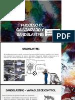 Proceso de Galvanizado y Sandblasting