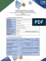 Guía de Actividades y Rúbrica de Evaluación – Fase 3 – Prueba de Hipotesis y Anova