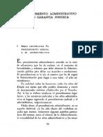 El Procedimiento Administrativo Como Garantia Juridica