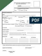 Barangay Official Information Sheet Form