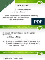 Decentralization and Metropolitan Governance