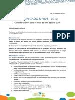 Comunicado N-4 Consideraciones Para El Inicio Escolar 20-1-161949502